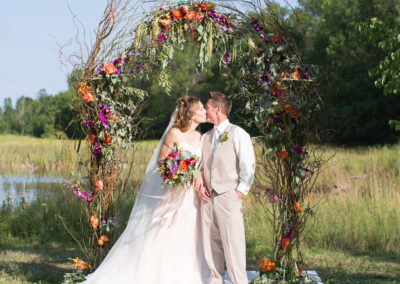 Summer Outdoor Ceremony - Laurie Marie Photography